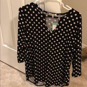 Stitch fix polka dot shirt